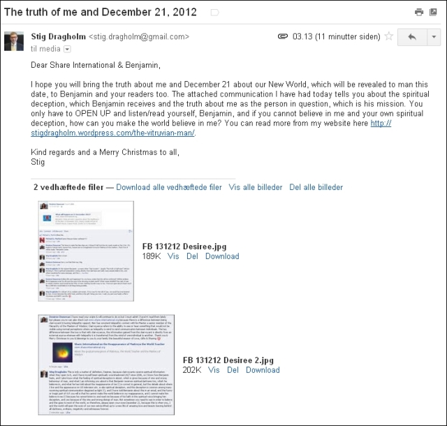 Email til Share International