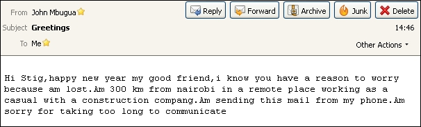 Email fra John 250113