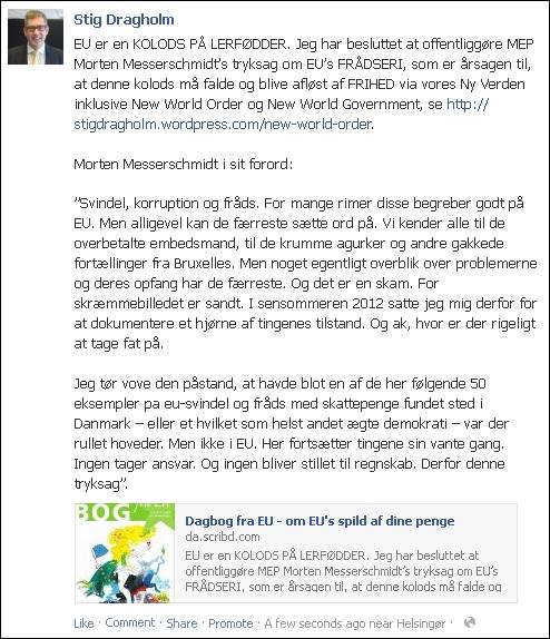 FB 300113 Stig om Morten og EU