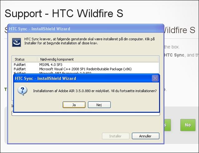HTC installation