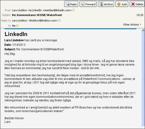 Mail fra Lars L 140113
