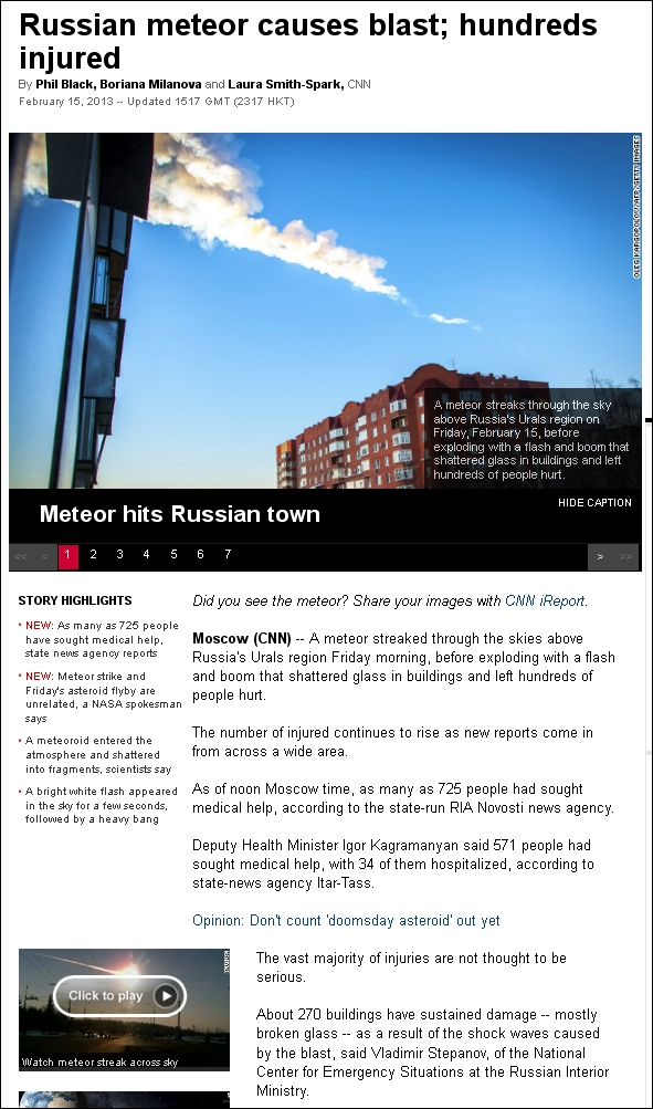 CNN 150213 Russian meteor