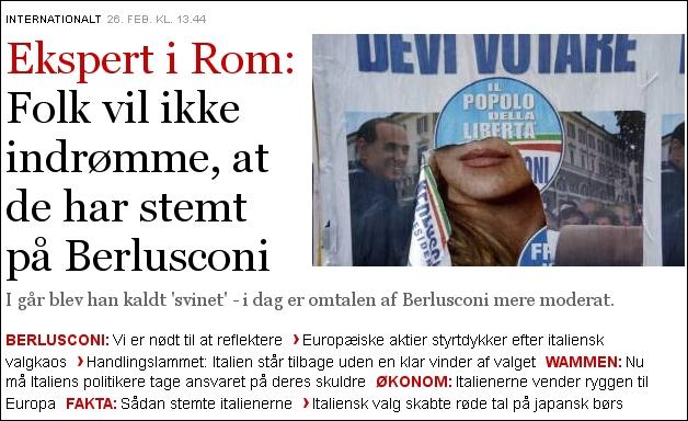 Politiken 260213 Italien