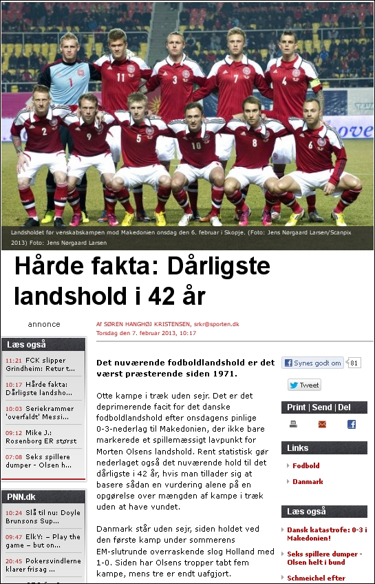 Sporten 070213 landshold