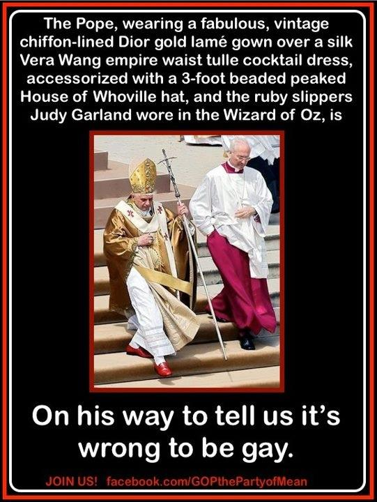 Wrong side of the Pope