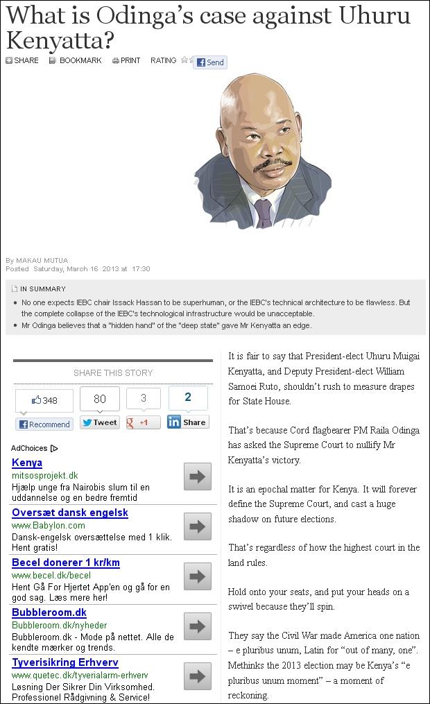 Daily Nation 220313 Odinga