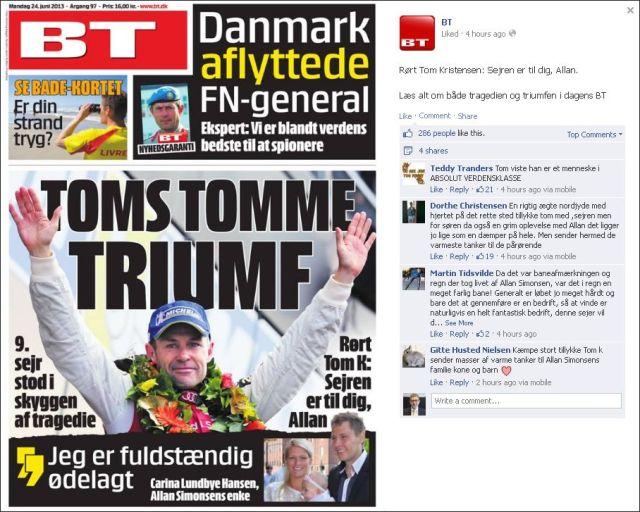 Le Mans vinder Tom Kristensen