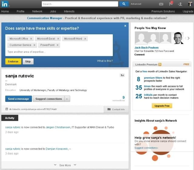 Linkedin Sanja og Jack 080613