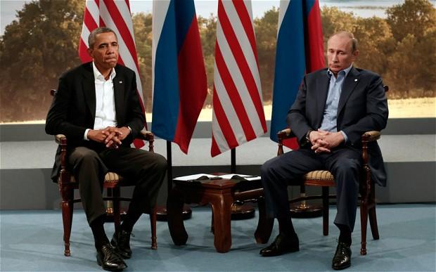Obama Putin G8