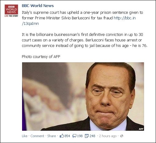 FB 010813 Berlusconi over and out 0 to 6