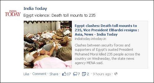 FB 140813 India om Egypt