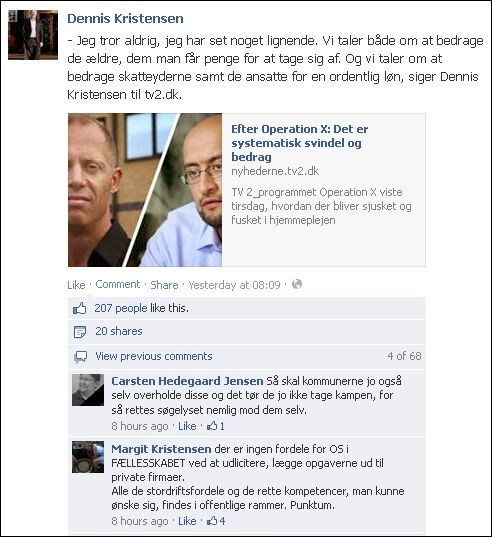 FB 250913 Deniis om Imran