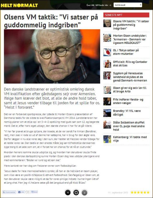 Helt Normalt om Morten Olsen