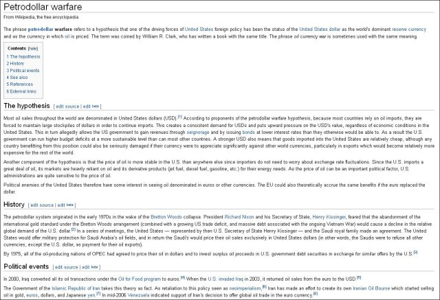 WikiPedia on Petrodollar warfare 140913