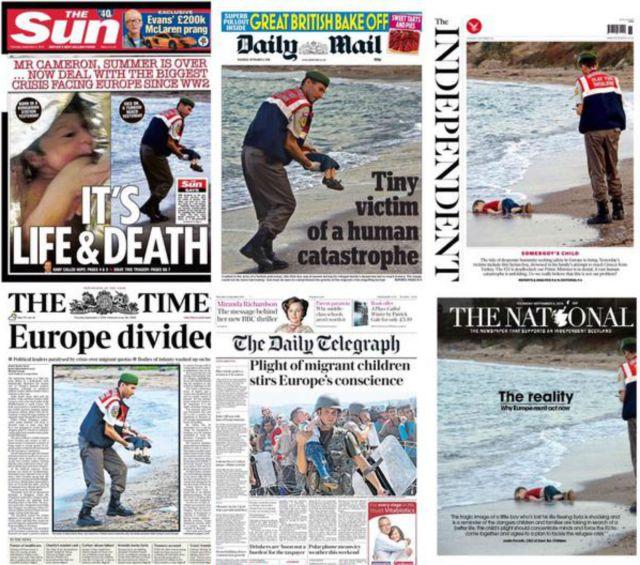 British newspapers 010915