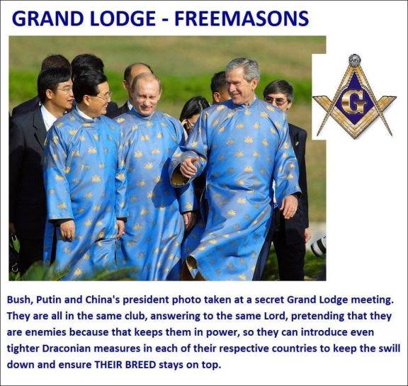 Bush Putin Free masons