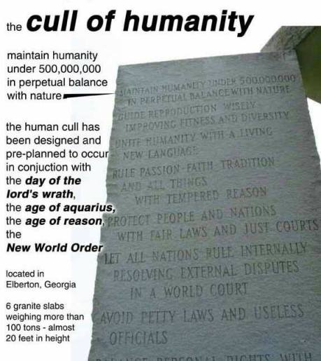 Cull of humanity