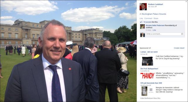 FB 120614 a proud Anders Laderkarl at Buckingham Palace .....