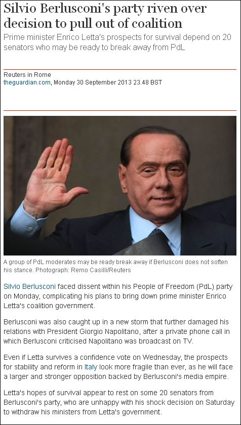 Guardian on Berlusconi 300913