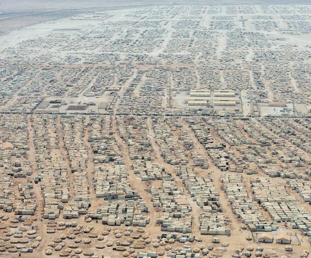 Syrian refugee camp in Jordan.