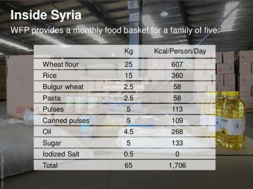 WFP food package