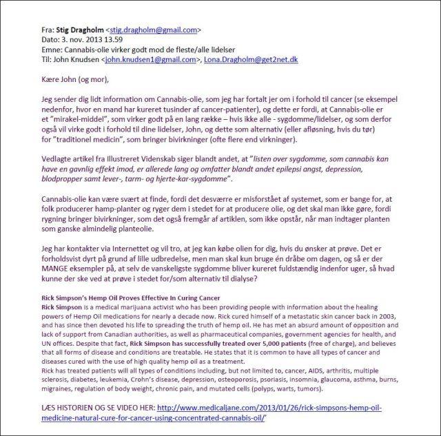 Email til John 031111
