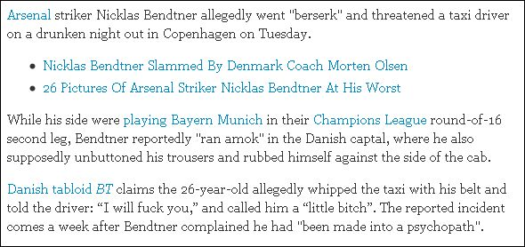 huffingtonpost on Bendtner