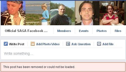 SAGA post removed