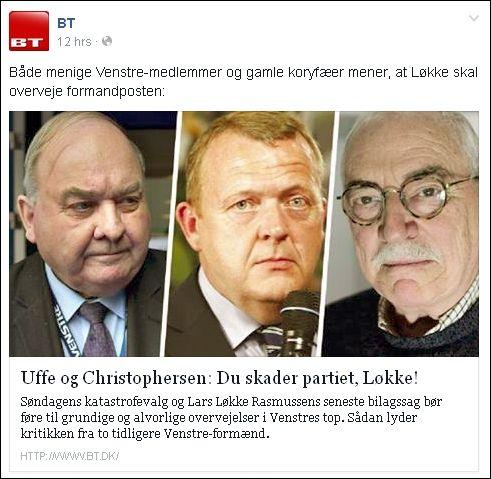 FB 270514 BT om Løkke