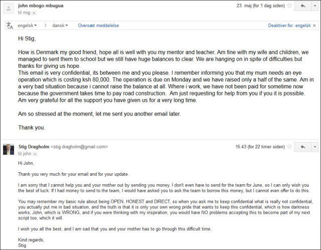 John email 230514