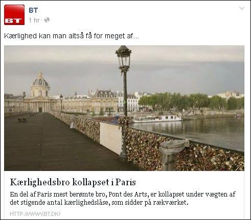FB 090614 BT Paris kærlighedsbro