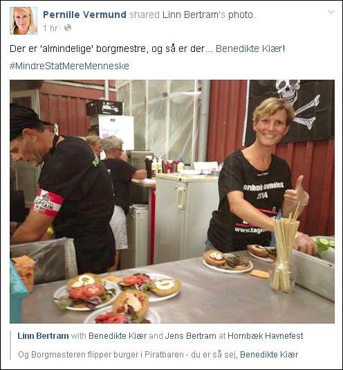 FB 260714 Pernille om Benedikte