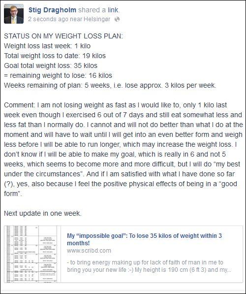 FB 280714 Stig om weight loss
