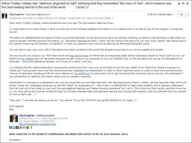 Email til AFC og SNU 060814