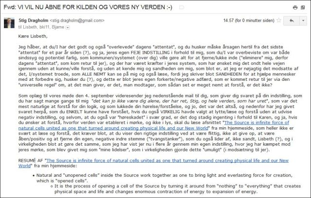 Email til Lisbeth mfl 290814