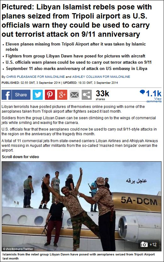 Daily Mail missing planes Libya