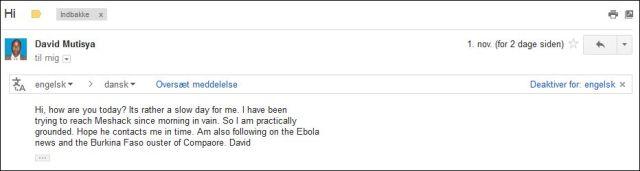 David email 011114