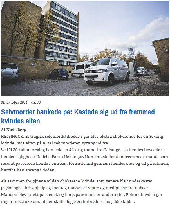 Helsingør Dagblad 311014 Suicide