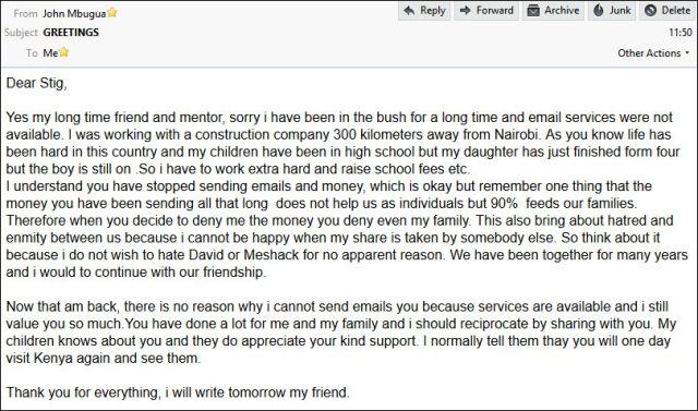 John email 241114
