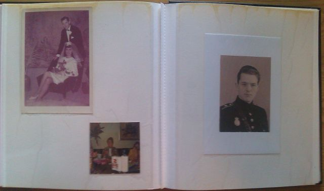 Stigs photo album - first page of Stig including new picture of my fathers father