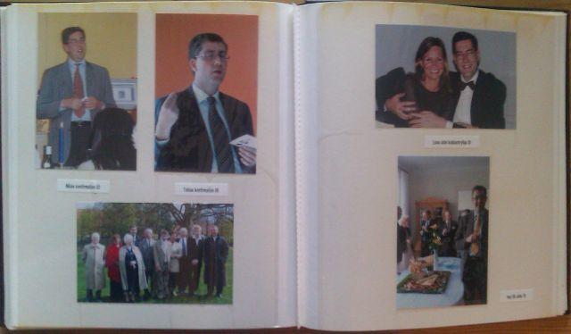 Stigs photo album - last page of Hans