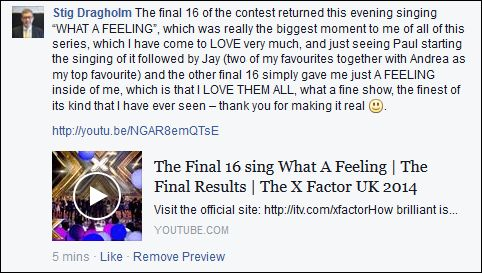 FB 151214 Stig X Factor 6