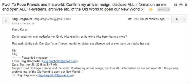 Mail forwarded to Karen 280415