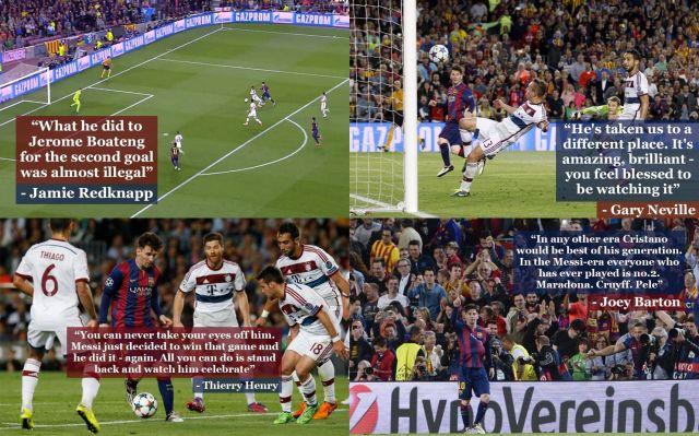 Messi against Bayern Munich 060515