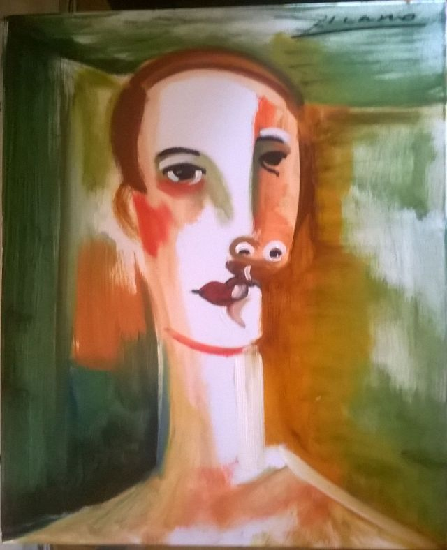 Picassos painting of Stig via Florencio Anton 090515
