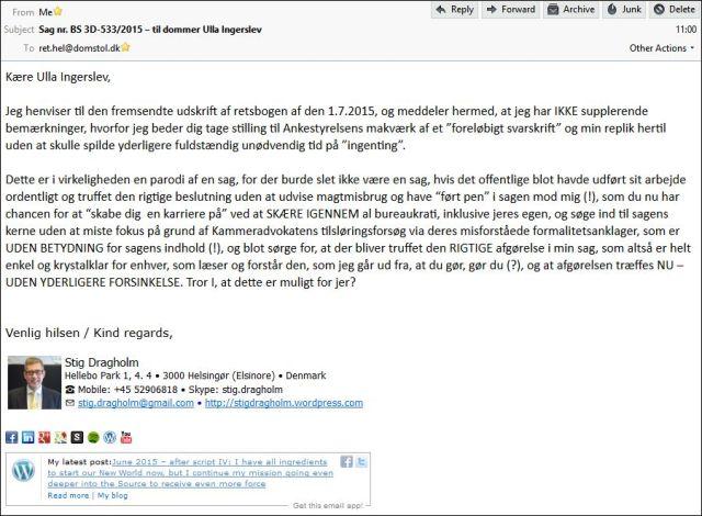 Email til Helsingør Ret 020715