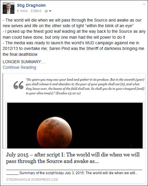 July 2015 – after script I: The world will die when we will pass