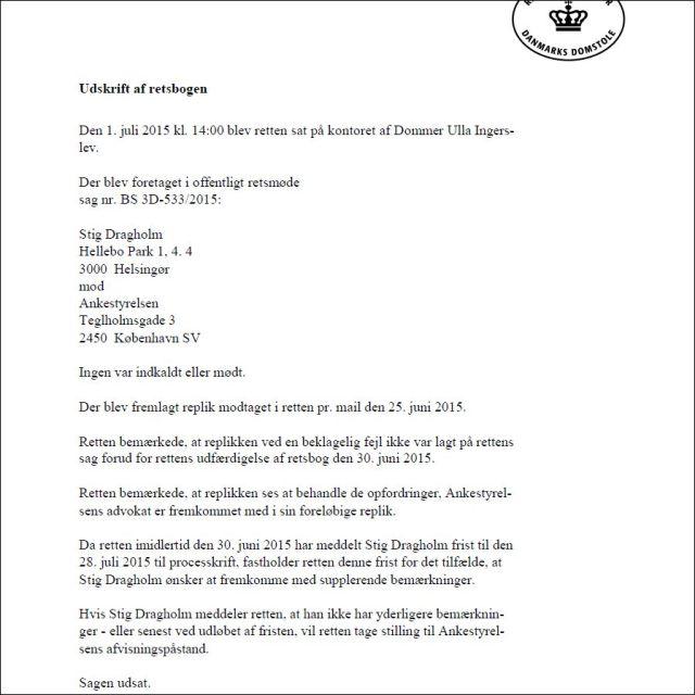 Retten i Helsingør 010715-2