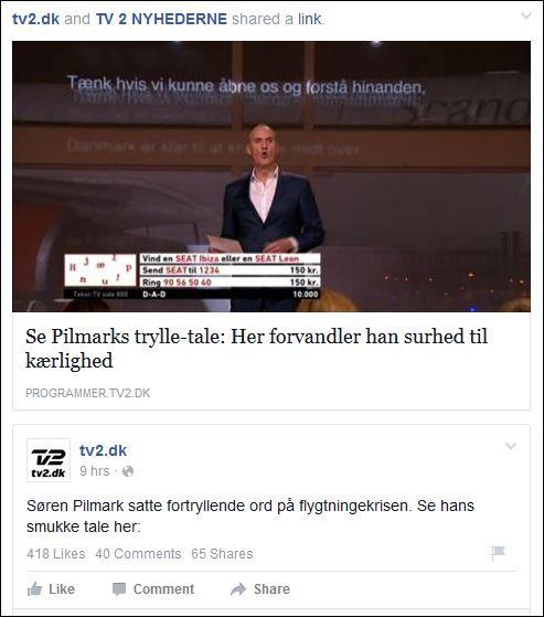 TV2 200915 Søren Pilmark