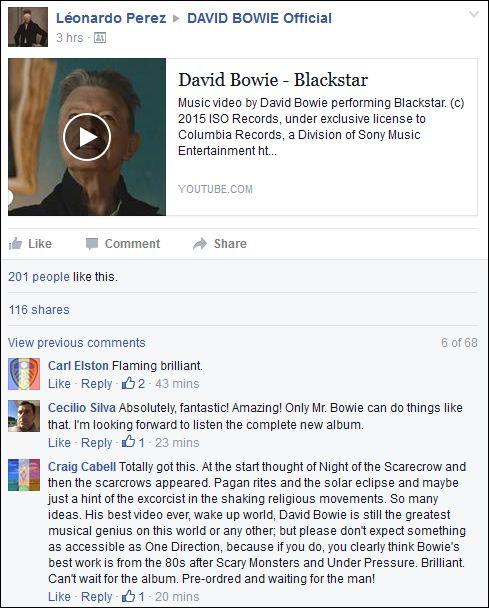 FB 191115 Bowie comment